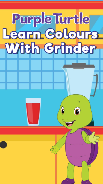 Purple Turtle Learn Colours With Grinder