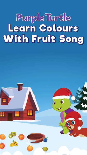 Purple Turtle Learn Colours With Fruit Song