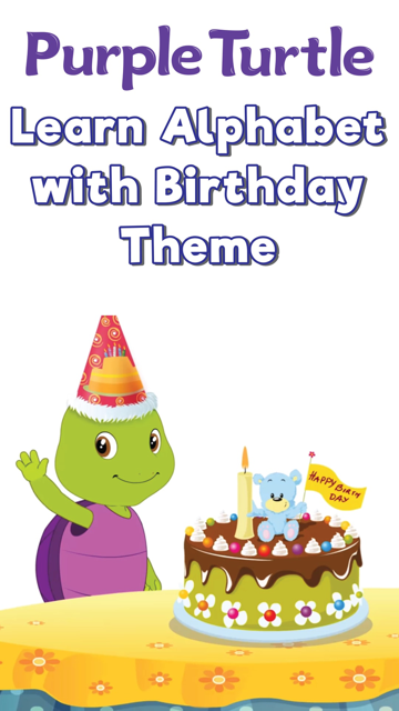 PurpleTurtle Learn Alphabet With Birthday Theme