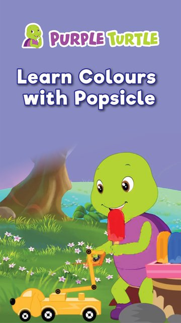 Purple Learn Colours With Popsicle