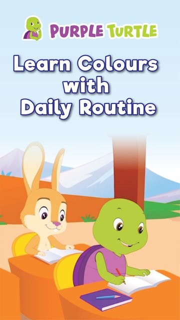 Purple Turtle Learn Colours With Daily Routine