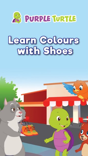 Purple Turtle Learn Colours With Shoes