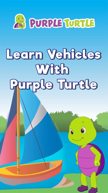Learn Vehicles With Purple Turtle