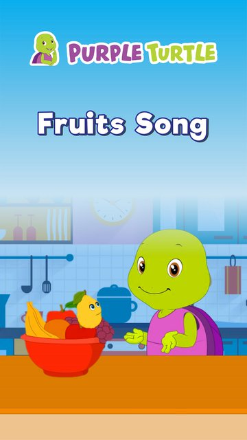 Fruits Song with Purple Turtle Version 2