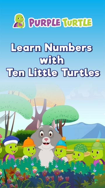 Learn Numbers with Ten Little Turtles