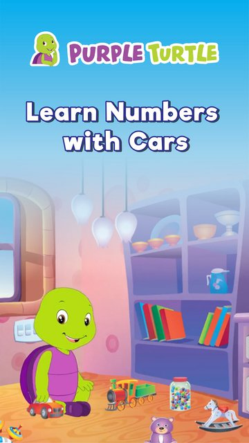 Purple Learn Numbers With Cars