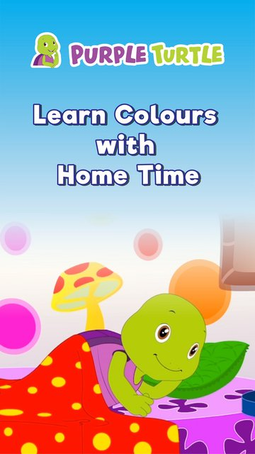 Purple Turtle Learn Colours With home time