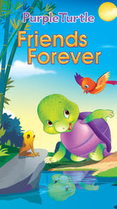Purple Turtle Friends Forever
