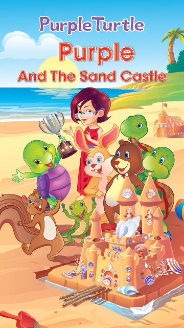 Purple and the Sand Castle